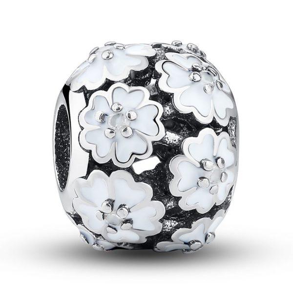 White floral charm
