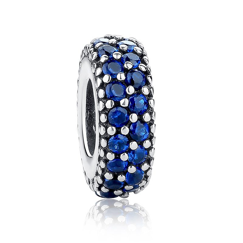 Blue round charm