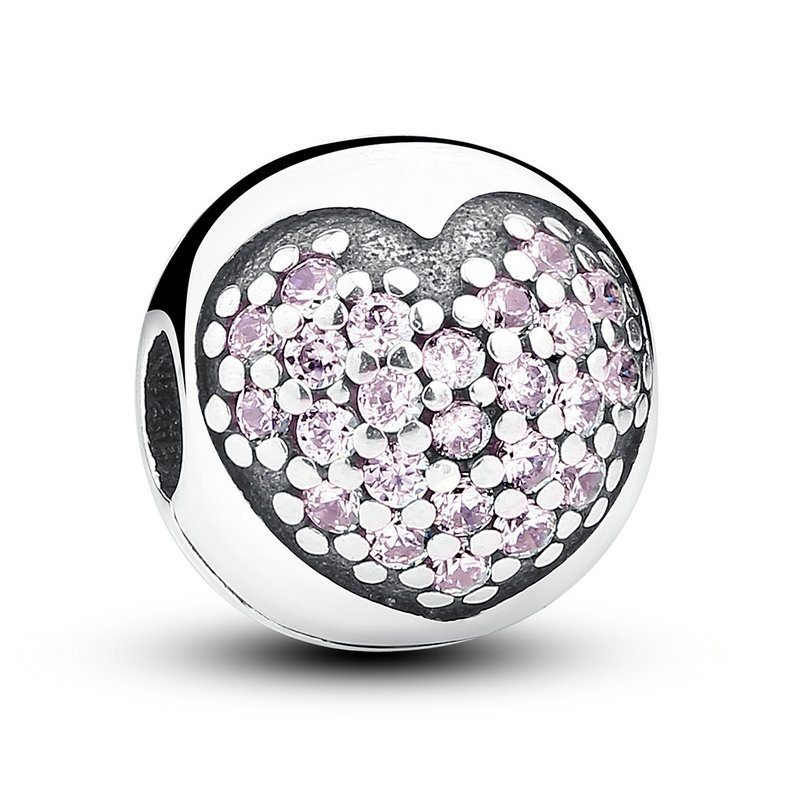 Heart clustered charm