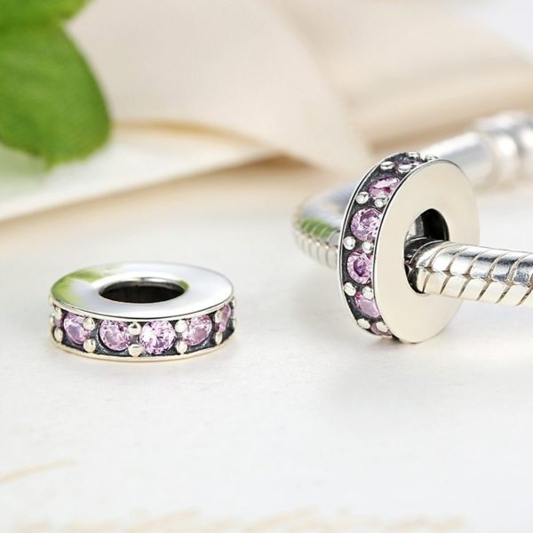 Round purple charm