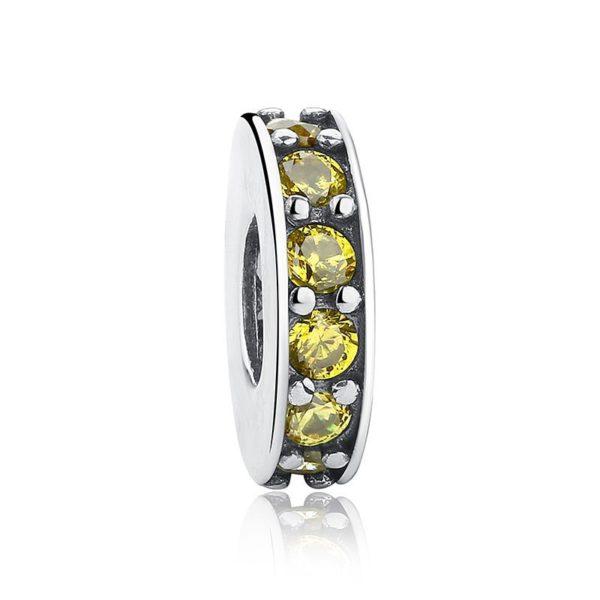 Yellow round charm