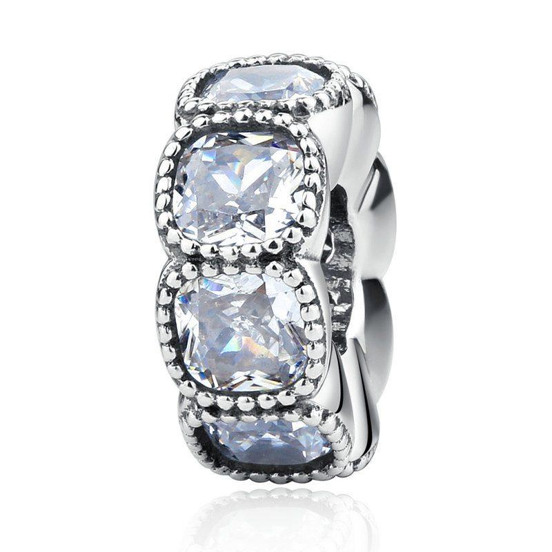 Bold gem encrusted spacer charm