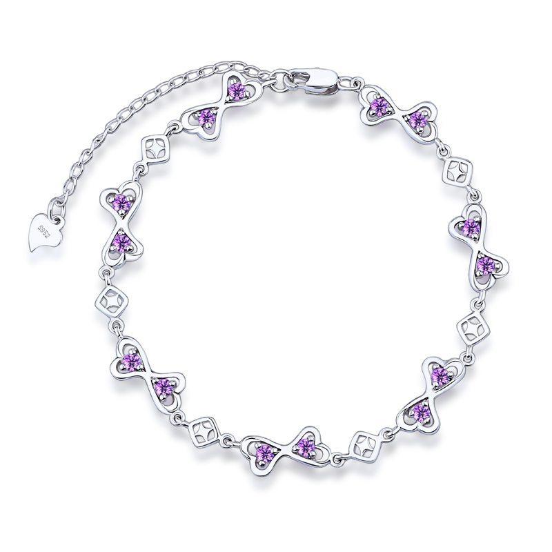 Double heart entwined bracelet