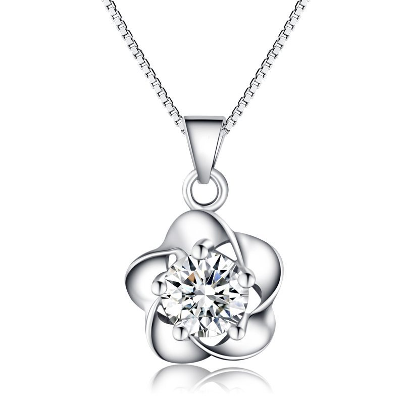Spiral flower necklace