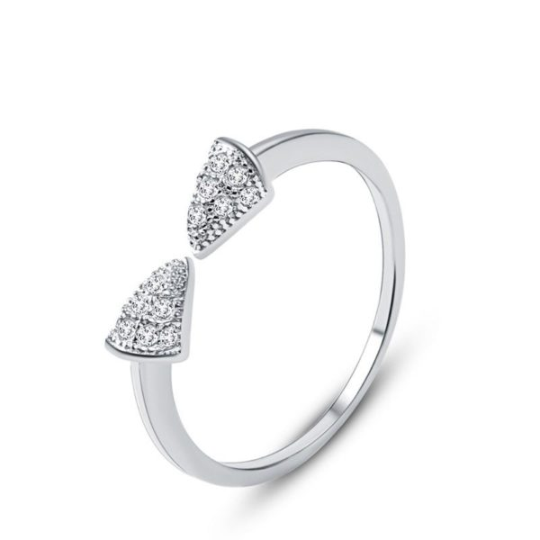 Unique styled bow ring