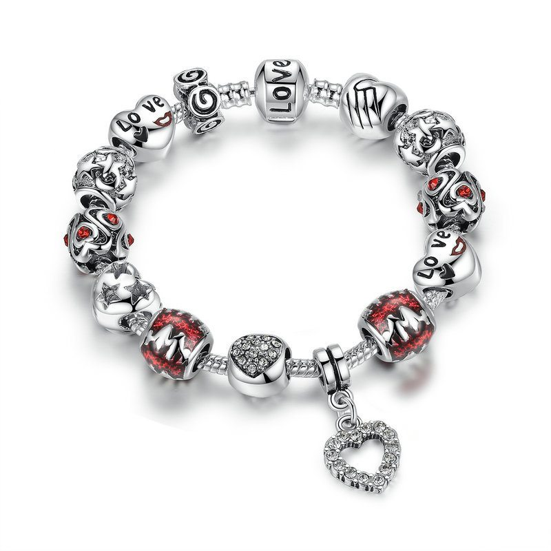 Home is where the heart is charm bracelet set