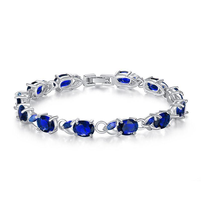 Oval gem encrusted bracelet