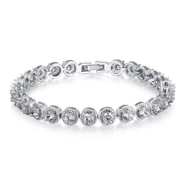 Circle gem encrusted bracelet