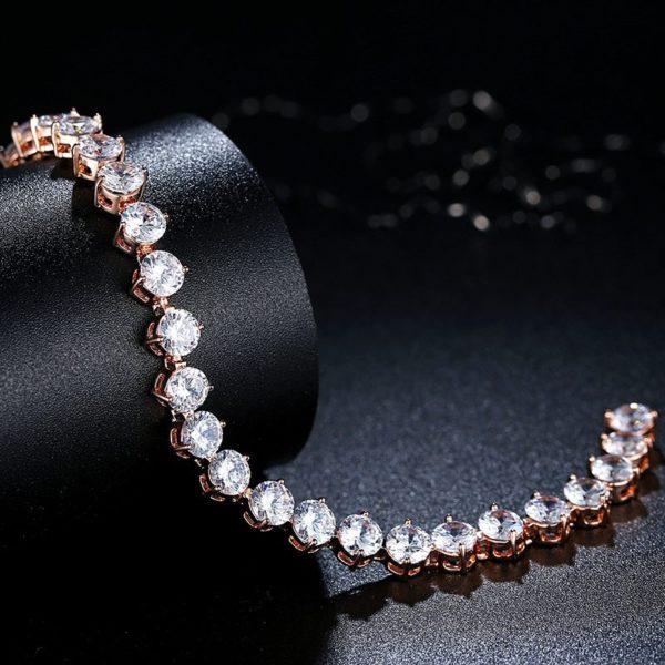 Evening gem encrusted bracelet set