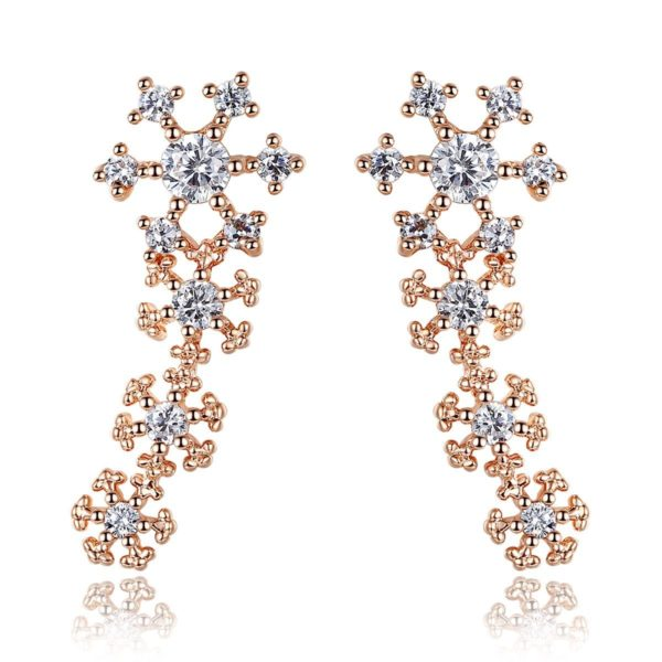 Falling snowflake earrings