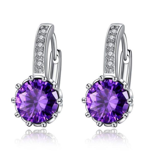 Squared gem earrings