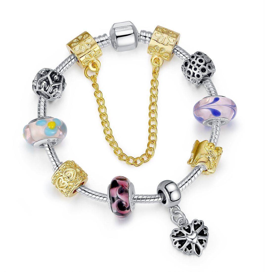 Heart of gold charm bracelet