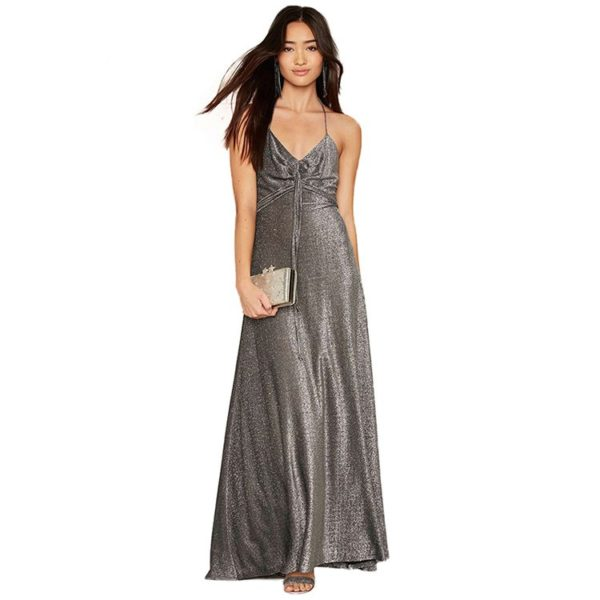 Silver deluxe evening dress