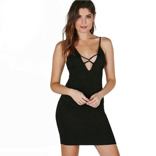 Black crossed chest dress