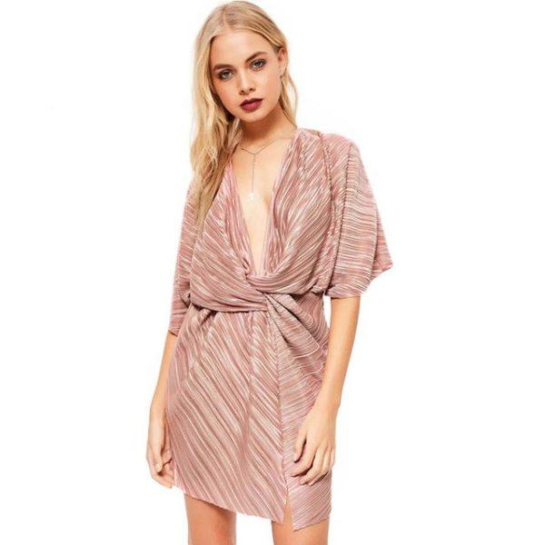 Shimmering lined dress