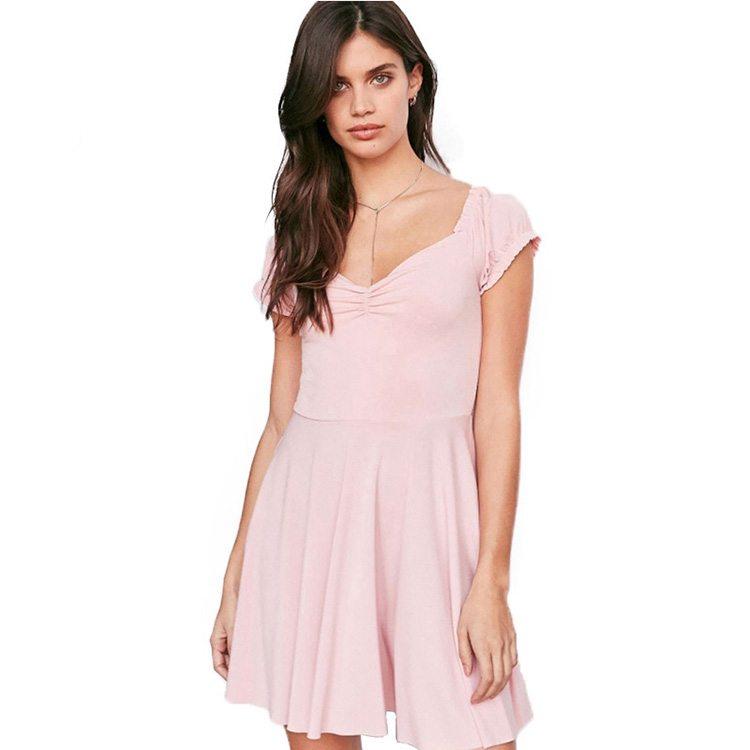 Delicate pink summer dress