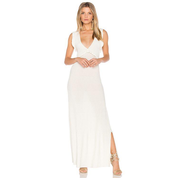 Fresh white maxi dress