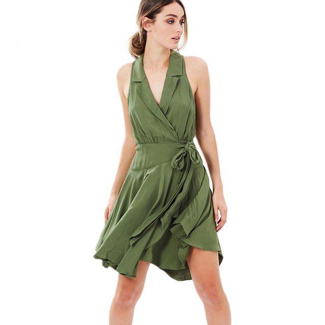 Lush khaki statement dress