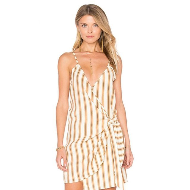 On point striped summer dress