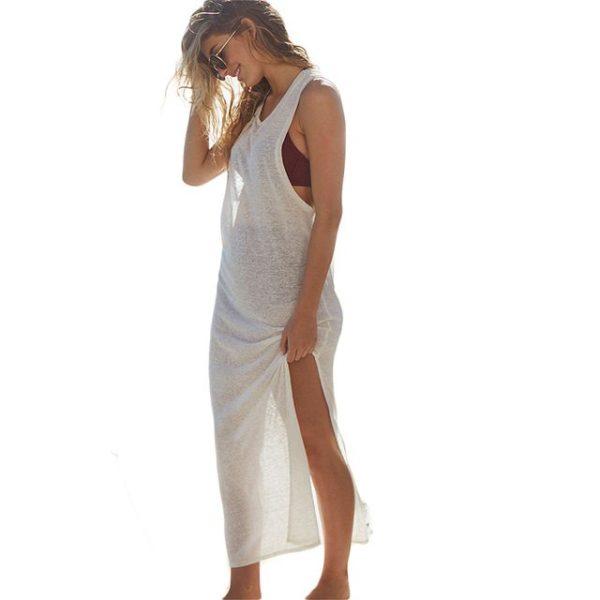 Open sleeved choker dress