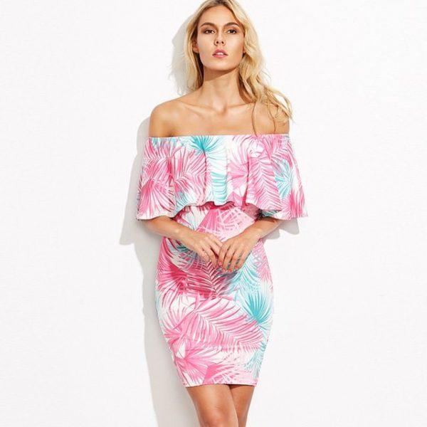 Luscious floral bardot dress