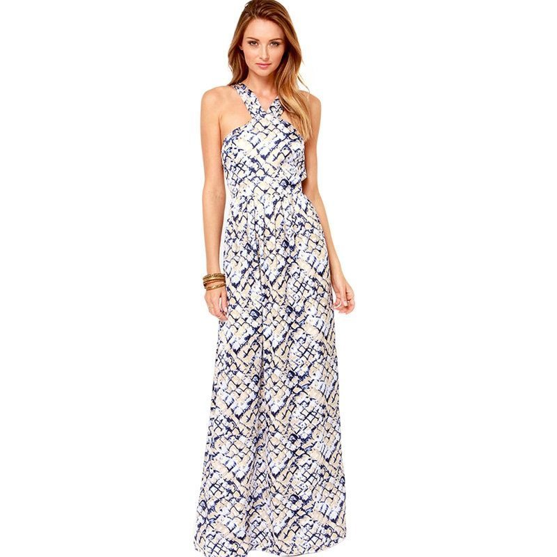 Fabulous patterned maxi dress