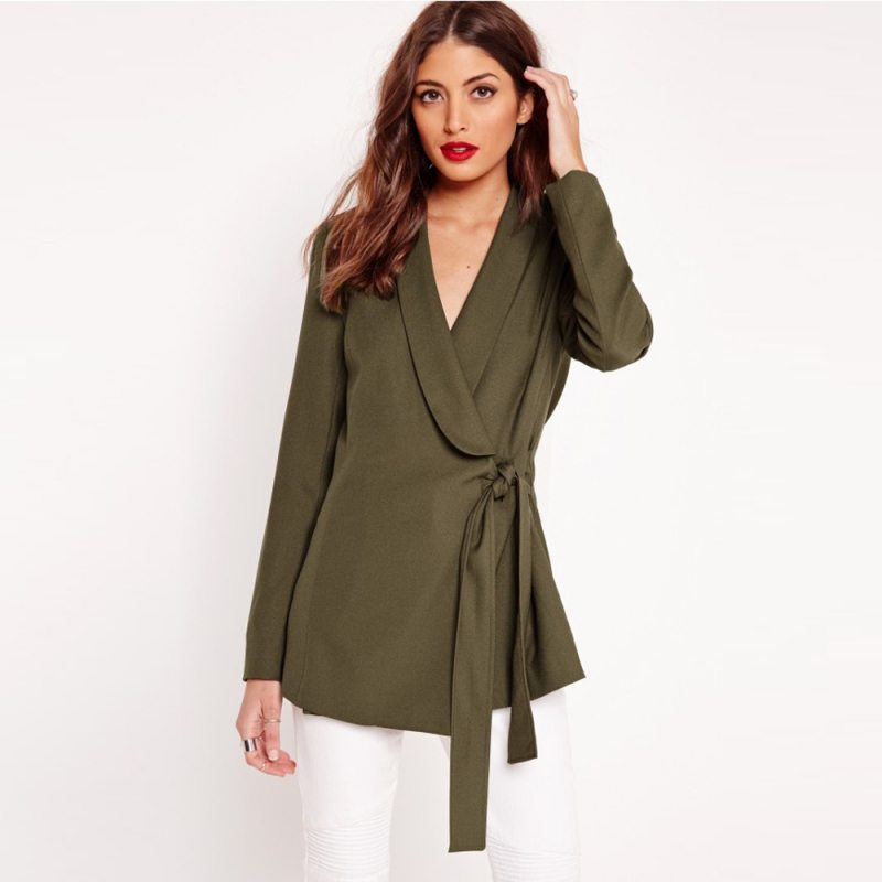 Elegant khaki blouse