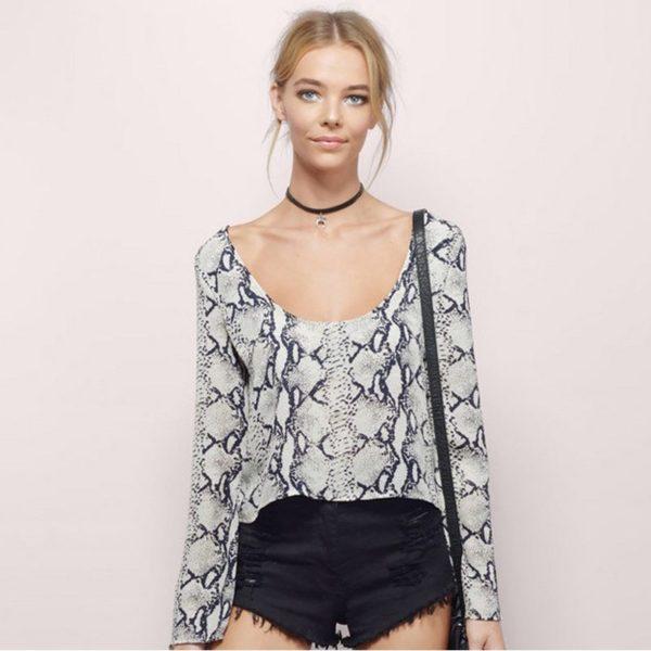 Sexy snake skin blouse