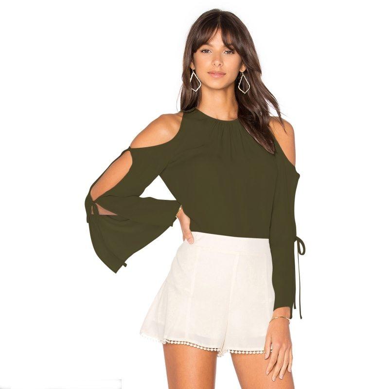 Slit arm blouse