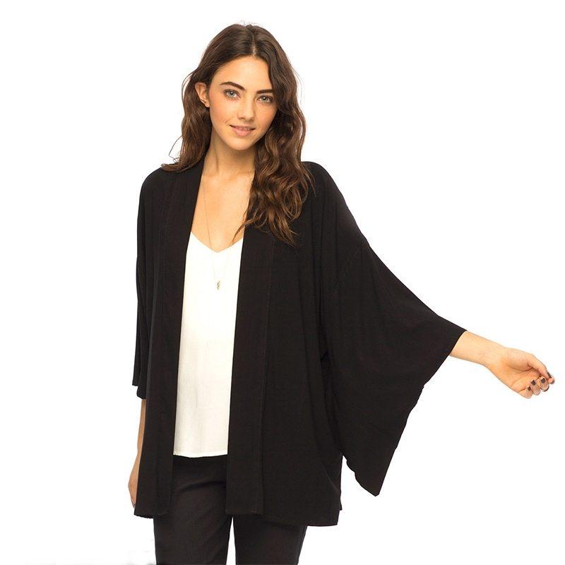 Unique long sleeved black cardigan