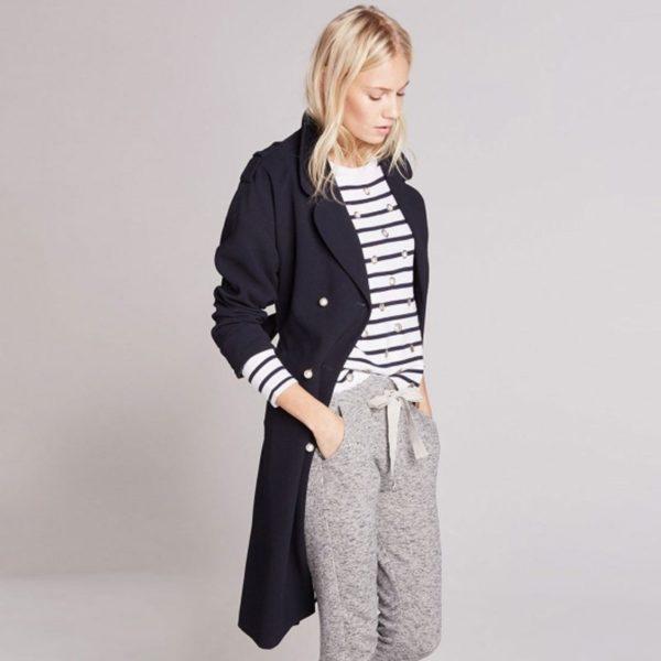 Cute faux fur black hooded coat