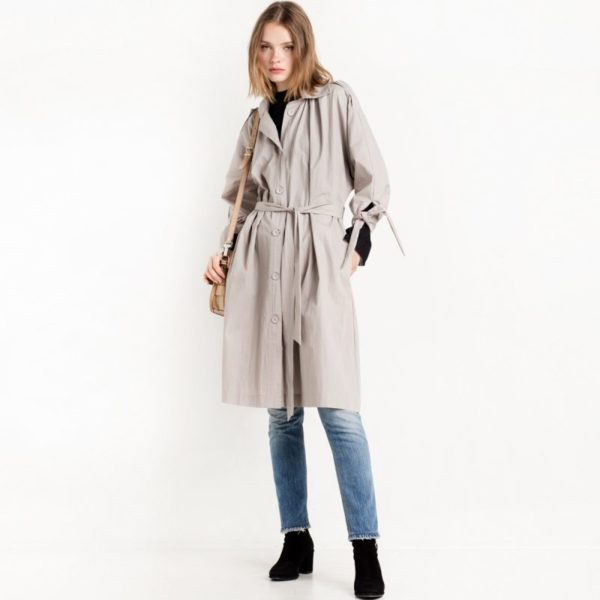 Gorgeous pale blue trench coat