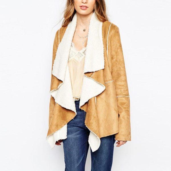 Beautiful caramel drape vest coat