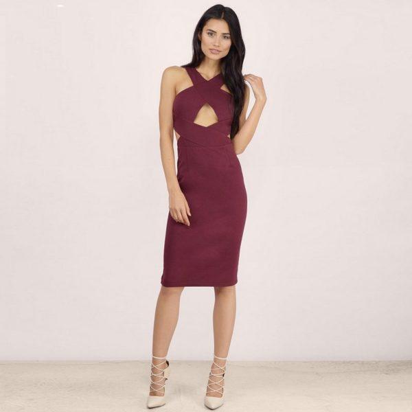 Flawless crossed beauty dress