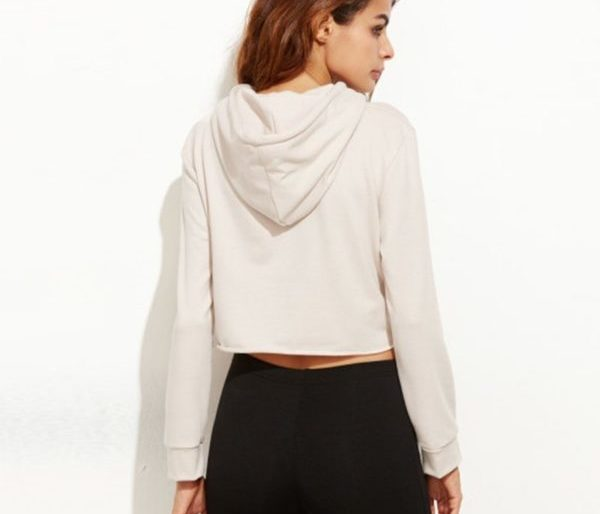 Classic cropped cream hoodie