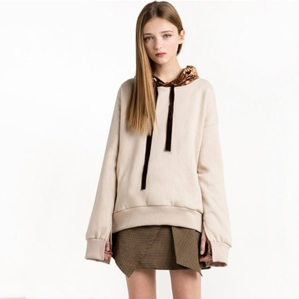 Comfy styled leopard print hoodie
