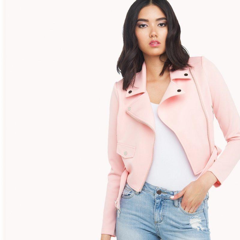 Baby pink jacket