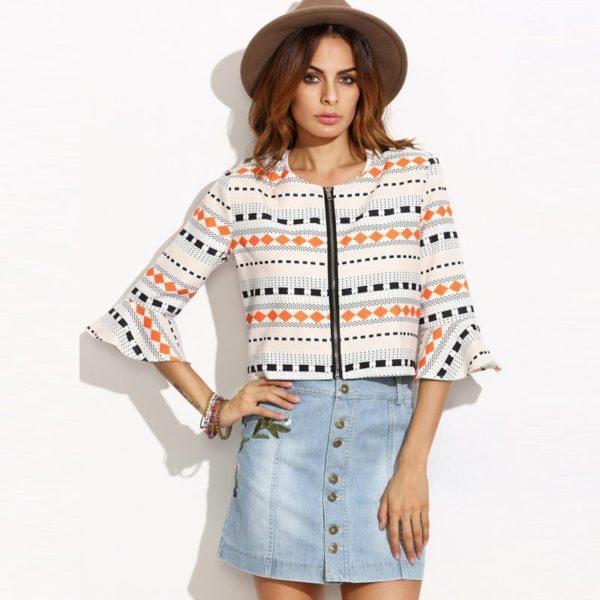 Trendy patterned jacket