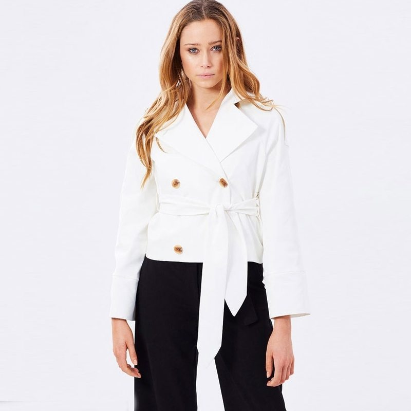 Gorgeous white belted jacket
