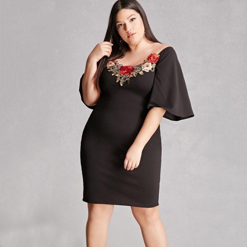 Buy me roses black dress