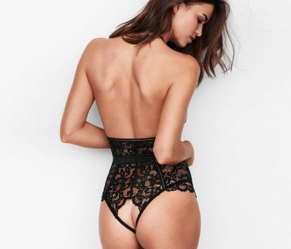 Sexy black lace all in one