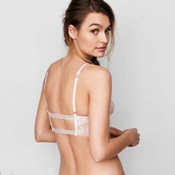 Gorgeous white lace bra