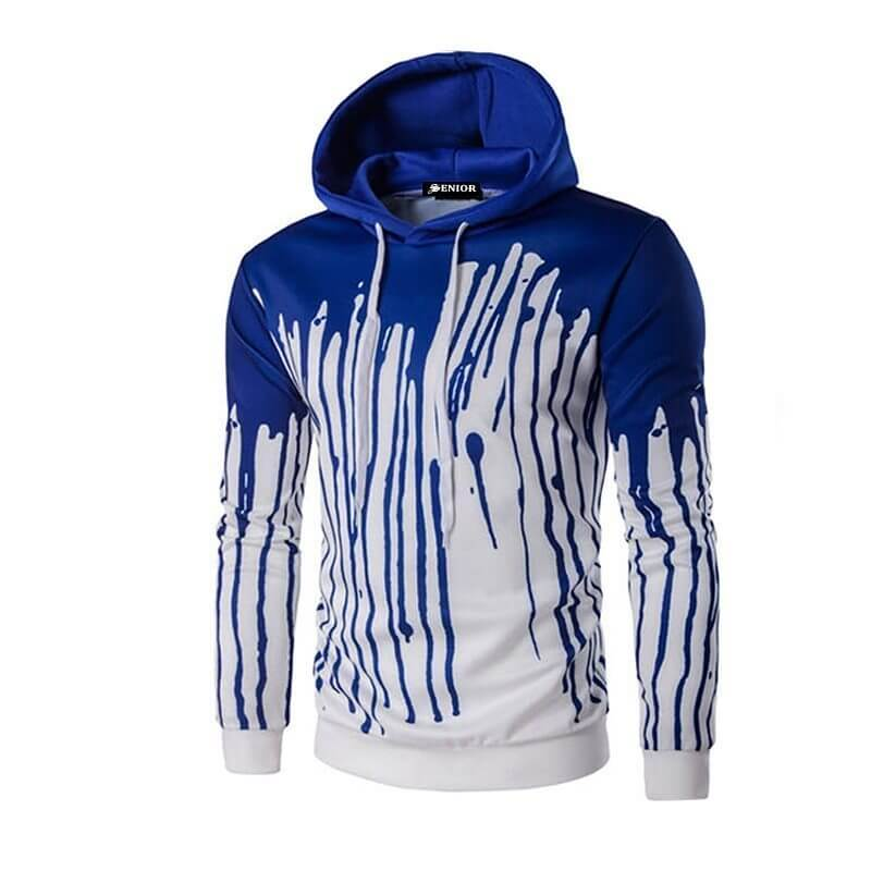 Dripping paint patterned hoodie