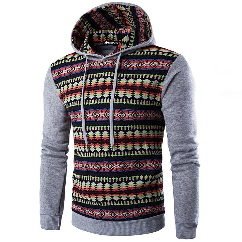 My favourite patterned drawstring hoodie