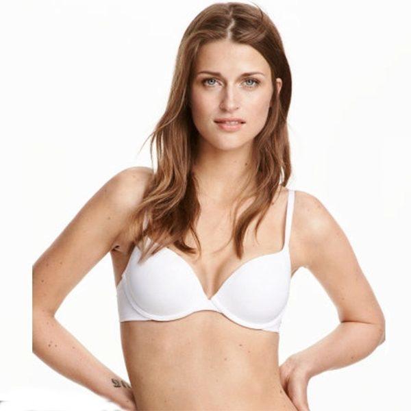 Cute plain white bra