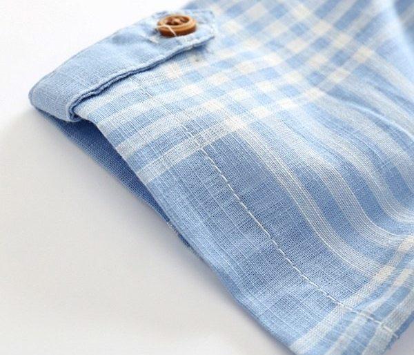 Casual checkered shirt set