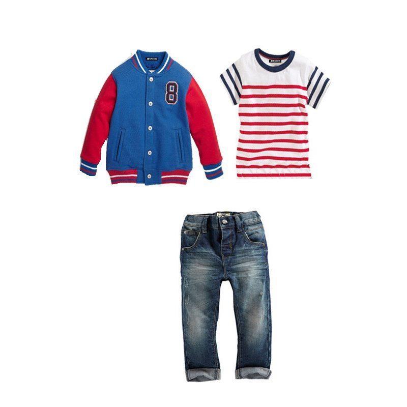 On point sport jacket top & jean trouser set