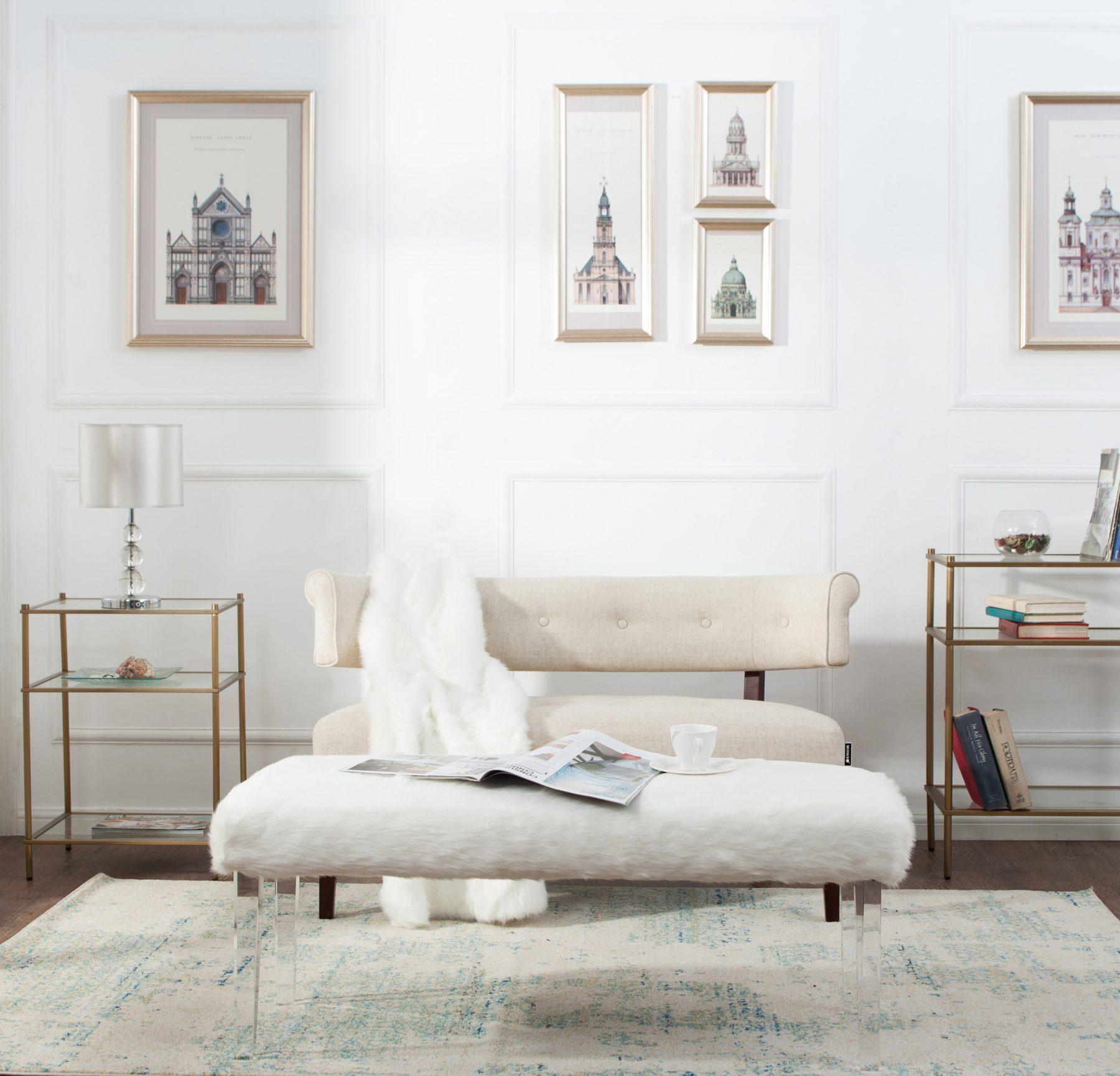 Super cream 2 seater sofa