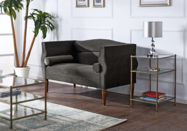 Charcoal 2 seater sofa