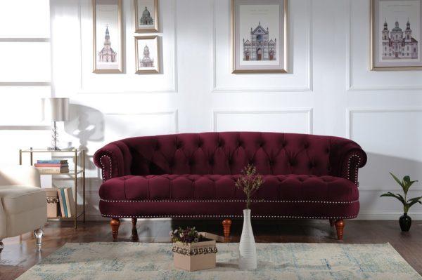 Elite plum 3 seater sofa
